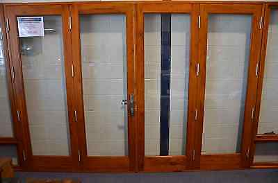 TIMBER BIFOLD DOORS,SOLID CEDAR, PRE-HUNG, STAINED,NEW 2700x2100h