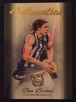 2017 AFL Select Certified INFLUENTIAL BEN BROWN North Melbourne Kangaroos 34/40