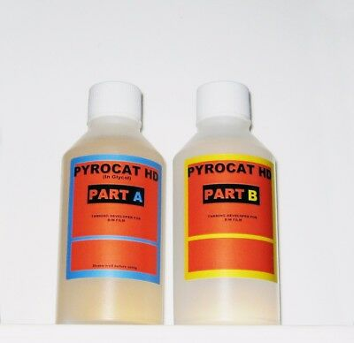 Pyrocat HD in Glycol. 100ml each of part A and B