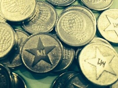 £1 Sized Tokens - Old Style Round Pound Shaped - 100 x Pieces