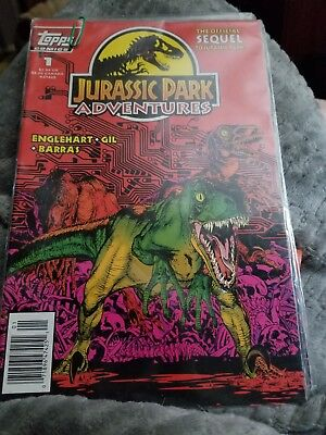 Jurassic Park Adventures 1994 issue 1,2,3,4 Topps comics