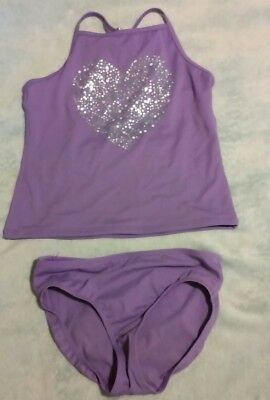 Lands' End Purple Girls Tankini Set Size 10
