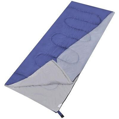 Best Single Outdoor Camping Envelope Sleeping Bag Thermal Hiking Winter 0°C Blue