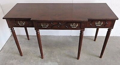 Georgian Antique Reproduction Mahogany Breakfront Side Hall Table (112)