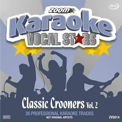 Zoom Karaoke Vocal Stars Classic Crooners Volume 2 CD + G New Sealed