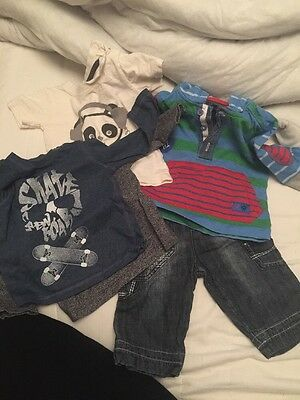 Bundle Of 3-6 Months Boys Clothes Shoes Jeans Hoodie Tops