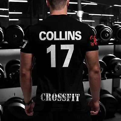 C8 CrossFit Tshirt + YOUR NAME Training Gym Functional Sport Workout Strength