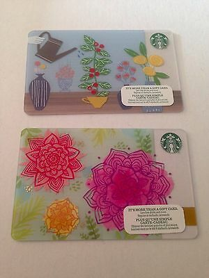Lot of 2 STARBUCKS Spring 2015/2016 Gift Cards☕️ NO $ Value, Collectible (CDN)