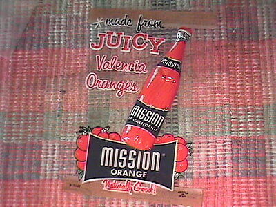50S Mission Orange California Valencia Oranges Drink 4X6 Window Sign !!