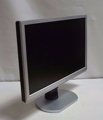 "Philips Beilliance 240Bw 24"" Tft Monitor Dvi Vga Speakers Int.  Grade A Silver"