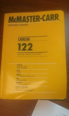 MCMASTER CARR Industrial Supply CATALOG No. 122  Slightly used Chicago IL