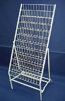 GREETINGS CARD POINT OF SALE WHITE WIRE DISPLAY STAND SHOPFITTINGS RETAIL Rack