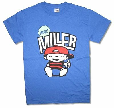 Mac Miller Chillin Comic Cartoon Most Dope Blue T Shirt New Official