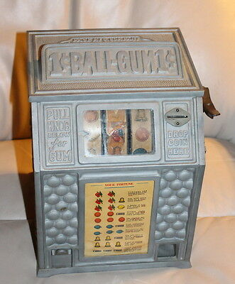 Vintage Dandy Vender Penny Slot/Gumball Machine - Pace Mfg Co Chicago, ILL