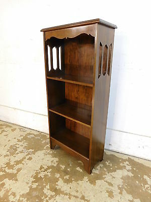 Vintage Mid Century Traditional Antique Style Mahogany Small Open Bookcase 38x18