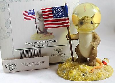 Charming Tails Figurine You're Out of This World NIB Astronaut
