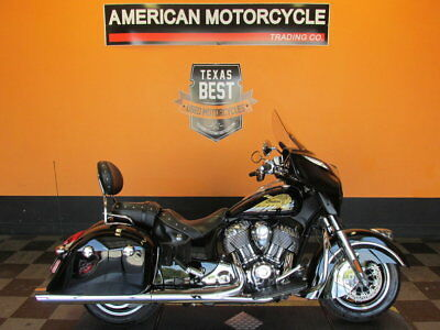 Indian Chieftain  2014 Indian Chieftain - Keyless Ignition - Beautiful Thunder Black, Low Mileage