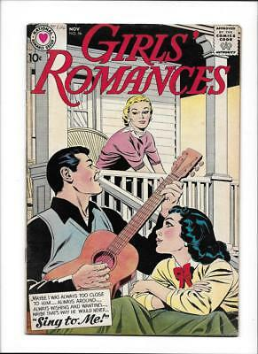 "Girls' Romance #56  [1958 Vg+]  ""sing To Me!"""