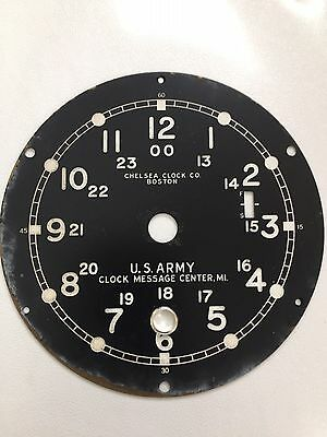 Chelsea Clock Co. WWII U.S. Army Message Center, M1 12/24 Hour Dial
