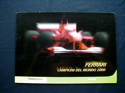 2000 Italy FERRARI Formula 1 auto racing official folder card stamps cover FDC