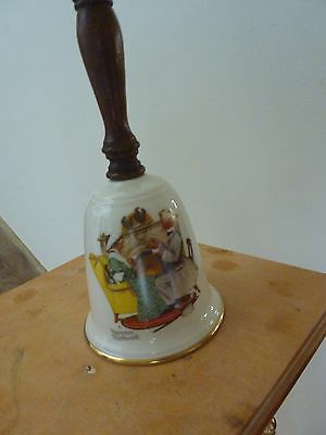 Norman Rockwell bell by Gorham
