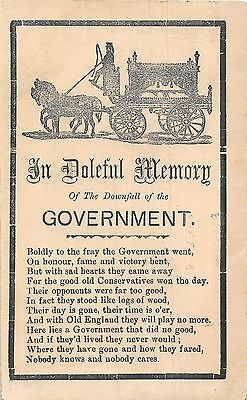 POSTCARD    POLITICS   In  Doleful  Memory of  the  Government
