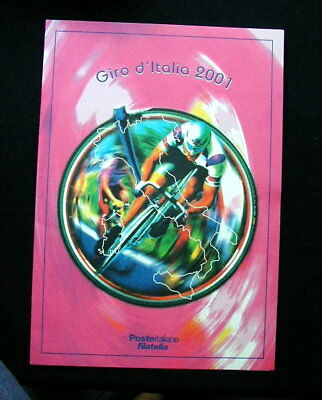 2000/01 Italy cycling GIRO ITALIA official folder card stamps