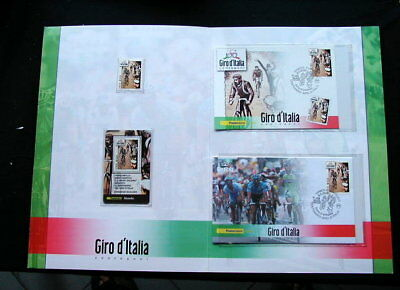 2009 Italy cycling GIRO ITALIA official folder card stamps cover FDC
