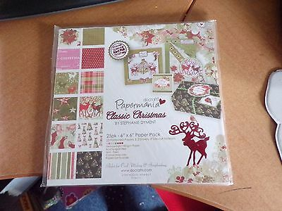 Paperblock Papermania Classic Christmas  25 Sheets/6X6 Inch New