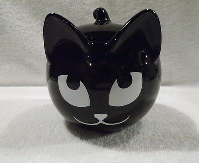 Sly Black Cat Candle Trinket Treet Holder Food Safe Décor Party Lite New In Box