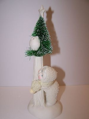 SNOWBABIES WHOOO IS ON THE LOOKOUT? dept 56 - #40238122 - BISQUE PORCELAIN