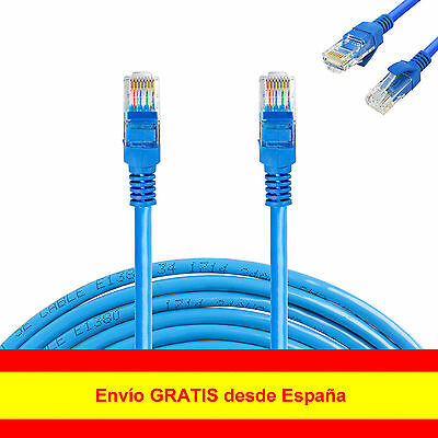 Cable de RED RJ45 CAT5 3m 5m 10m 15m 25m LAN ETHERNET Internet router/módem
