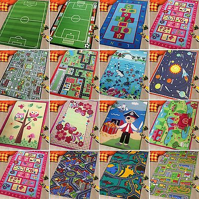 Kids Childrens Multicolor Modern Design Play Mat Nursery Rugs Rug Mat Home New