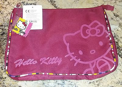 SANRIO Hello Kitty Flat Pouch Small Laptop / Tablet Case School Supplies Bag NWT