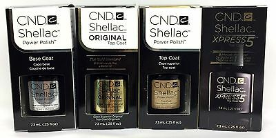Cnd Shellac Gel Nail Polish SMALL size - Choose Any Base/Top Coat - 0.25oz/7.3ml
