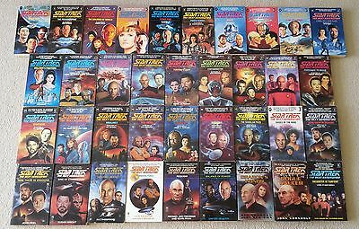 Star Trek The Next Generation Collection of 37 Paperback Books (Picard / Riker)