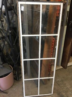 "Fixed Metal Case Window 8 Glass Light 51"" x 18"" steel sash window"