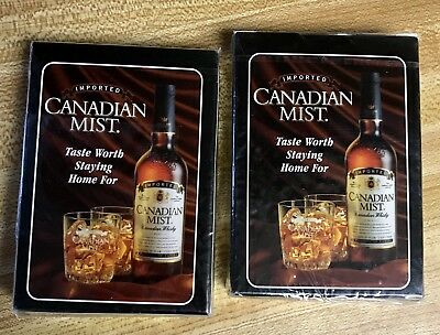 CANADIAN MIST PLAYING CARDS Set Of 2 Sealed NIB From 1998 Advertising