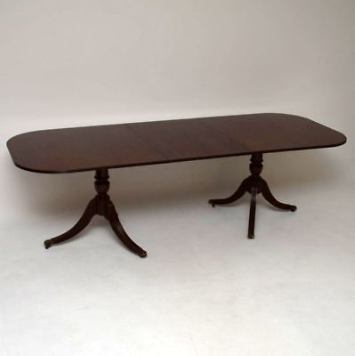 Antique Regency Style Mahogany Dining Table
