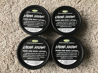 Lush Karma Kream Hand And Body Lotion 45g Pots X4