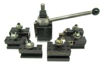 New! Dorian Sd25 Super Quick Change Tool Post And 6 Holder Set