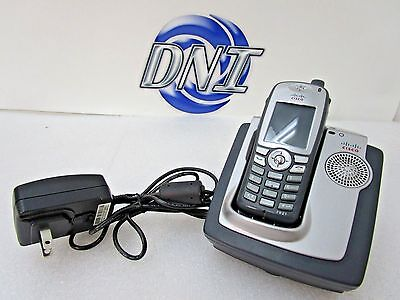Cisco CP-7921G-A-K9 Unified Wireless IP Phone Complete Bundle CP-DSKCH-7921G SJS