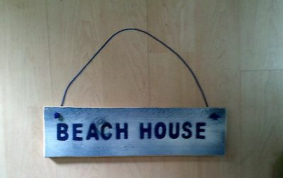 """Door/wall Sign Rustic/shabby Chic """" Beach House"""""""