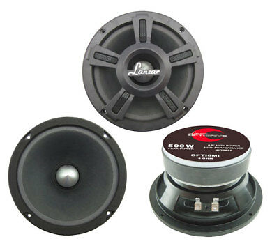 "Lanzar Opti Mid Bass Driver 6.5"" 4 Ohm 500w In Car Audio Subwoofer Sub Woofer"