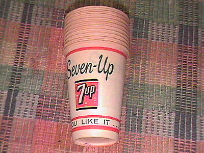 """Lot Of 10 Vintage 7 Up """"you Like It....it Likes You"""" #785 Lily Wax Paper Cups !!"""