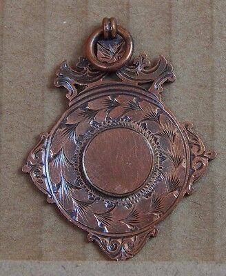 Antique Watch Chain Fob 1930's Rose gold plated Art Deco