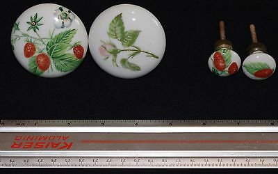 Antique Vintage French Door & Cabinet Knobs Porcelain Hand Painted