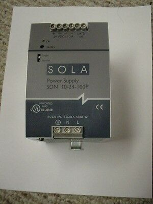 Sola  Sdn-10-24-100P Power Supply Tested 24Vdc @ 10A