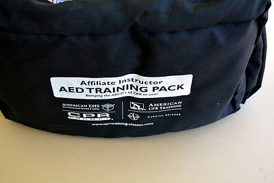 Incomplete AED TRAINING PACK with CPR MANIKIN AND ACCESSORIES