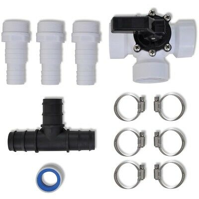 S# Solar Heater Panel Bypass Kit Swimming Pool Heating System Hose Adapter Valve